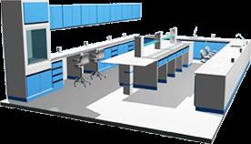 Solução completa em Móveis para laboratoriais